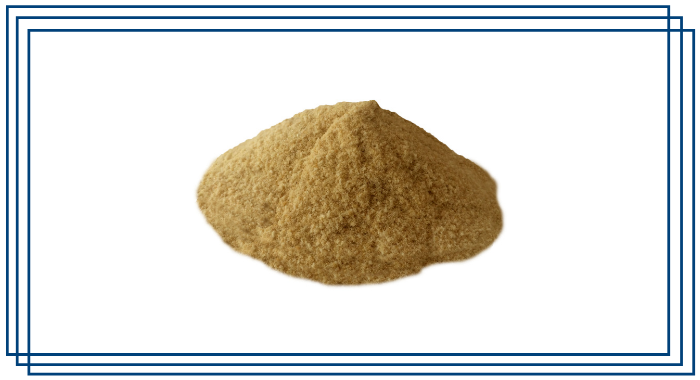 In a blue rectangular frame, Carbofen-X is in a pile. The image displays the powdered presentation of the product.
